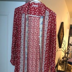 Long-sleeved floral shirt/dress